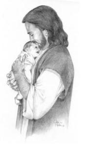 This is a picture that brought me comfort. It was drawn my a friend of my moms, who also drew the pictures of my sister, when she passed. Here is a link her site: http://www.jeankeatonart.com/