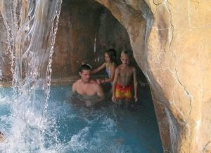 They had the coolest little waterfall/cave!