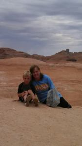 "Mu mom and Aussie had a good time looking for ""treasures."""
