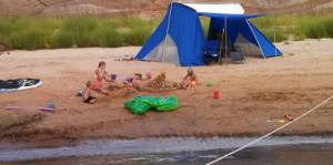 It isn't Lake Powell without sand sculptures. Very therapeutic, I might add ...