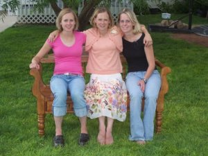 Me and my sisters Megan and Molly not long before Megan passed.